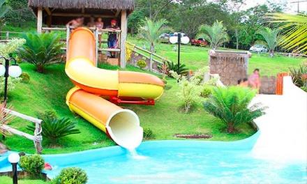 Inhumas/GO: day use para até 10 pessoas no Camping Cachoeira das Lajes. Digite NATAL e ganhe 15% OFF extra!