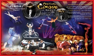 Festival du Cirque de Namur: 1 place de côté ou de face pour le 13e Festival du Cirque de Namur dès 12 €