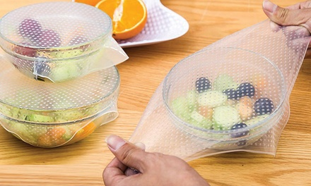 4, 8 ou 12 couvercles en silicone alimentaire étirables