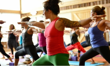 10-Pass or 1-Month Unlimited Yoga Classes with Props Block and Rental Mats at Riverstone Yoga (Up to 68% Off)