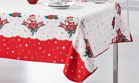 Mantel antimanchas navideño
