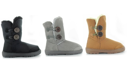 Women's Two Button Boots
