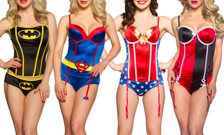 Undergirl x DC Comics Women's Corset Panty Set