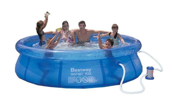 Piscinas hinchables bestway groupon goods for Ofertas piscinas bestway
