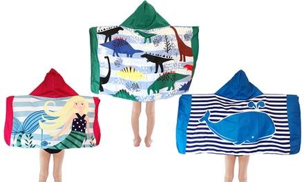 Toalla de playa tipo poncho para niños