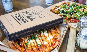 The Pizza Press: Pizza Meal with Craft Beer on Tap for Two or Four at The Pizza Press (Up to 40% Off)