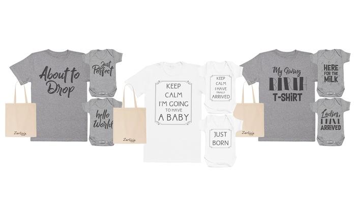Groupon Goods Global GmbH: T-shirt maternité de maman et 2 bodies bébé Spoilt Rotten