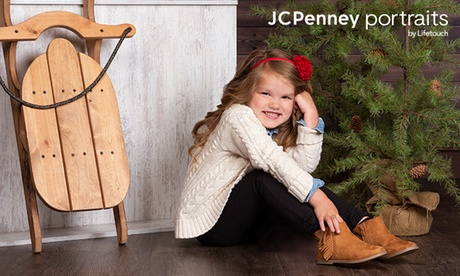 "Photography Shoot Package with Optional 10""x20"" Canvas Print at JCPenney Portraits by Lifetouch (Up to 86%)"