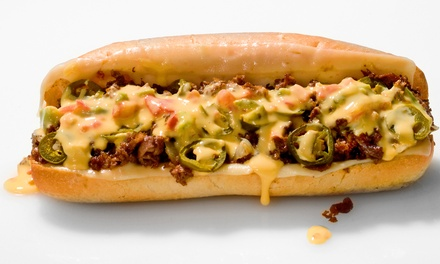 $9 for $15 Worth of Cheesesteaks, Deli Sandwiches, and Burgers for Dinner for Two at Texadelphia