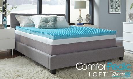 "BeautyRest ComforPedic Loft 4"" Reversible NRGel™ Topper bf6e8a42-68bd-11e7-8f12-00259069d7cc"