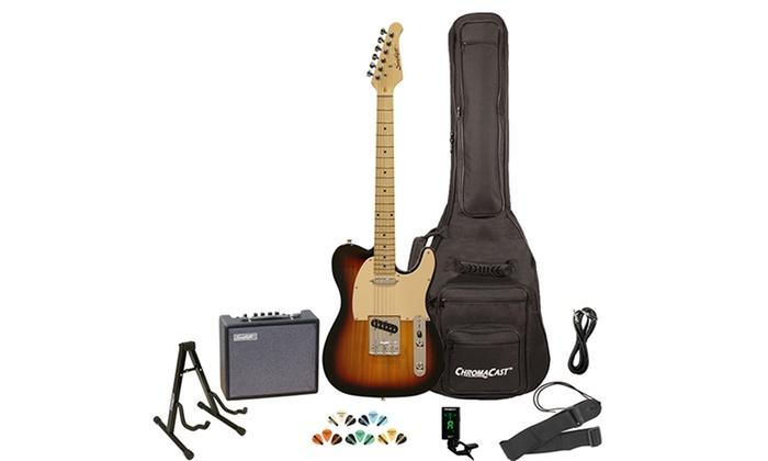 sawtooth et series electric guitar bundle with amp and gig bag groupon. Black Bedroom Furniture Sets. Home Design Ideas