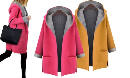 Hooded OpenFront Coat: One $29 or Two $49