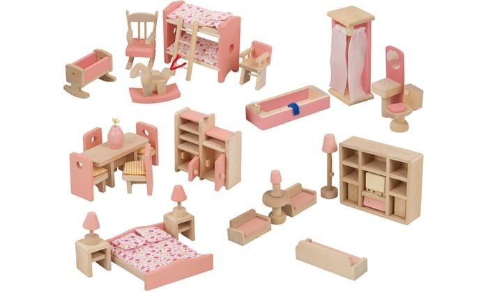 Six Dollhouse Furniture Sets