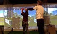 手ぶらでOK。手軽に楽しみながらプレーができる≪シュミレーションゴルフラウンド9H(60分)/他2メニュー≫ @天々ゴルフ