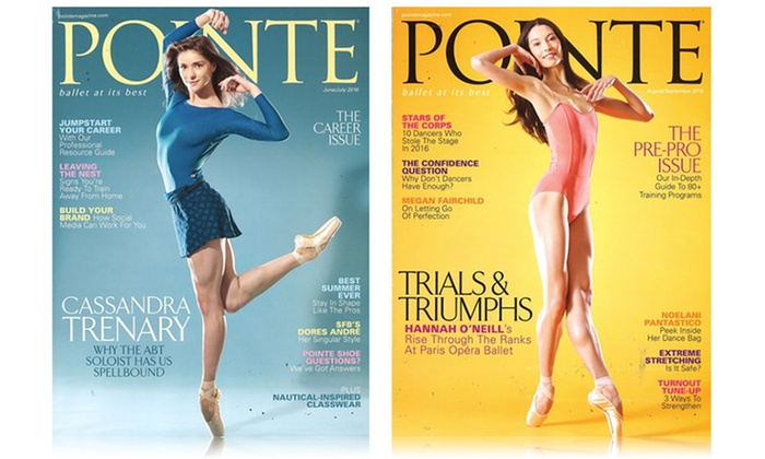 1-Year, 6-Issue Subscription to Pointe Magazine