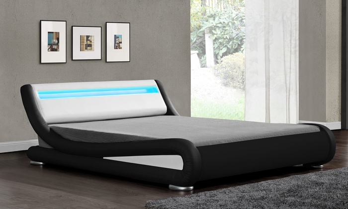 Galaxy LED Bedframe with Optional Mattress