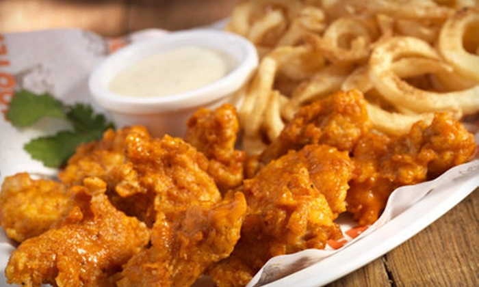 Hooters - Sycamore Canyon Canyon Springs: $24 for an American Dinner with Dessert for Two at Hooters (Up to $48.96 Value)