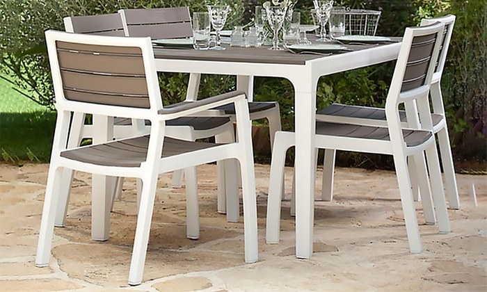 Tuin Dining Sets : Keter harmony six seat dining set groupon goods