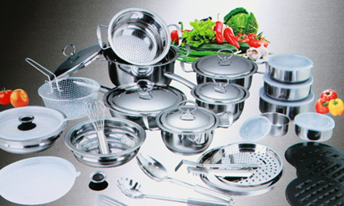 Groupon Goods: 40-Piece Stainless Steel Pot Set for R1 199 Including Delivery (60% Off)