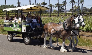 Swan Valley Wagon Tours : 3-Hr Horse-drawn Wagon Winery Tour for One ($59) to Eight People ($396) with Swan Valley Wagon Tours (Up to $712 Value)