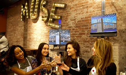Painting Party for Twelve, Twenty-Five, or Forty People at Muse Paintbar (Up to 45% Off)