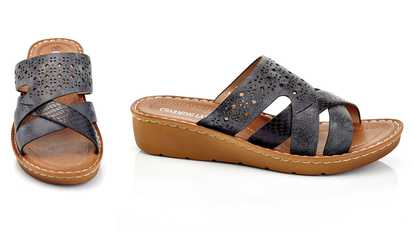 93695bd7191d23 Shop Groupon Women s Casual Slip-on Comfort Multi-Strap Wedge Sandals