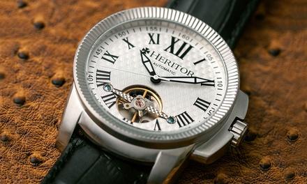 599 zł zamiast 3799 zł: stylowy męski zegarek Heritor Franklin – 6 kolorów