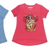 Girls' Harry Potter Foil-Screen T-Shirts on Burnout Fabric