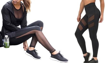 Sport-Leggings mit durchsichtigem Mesh für Damen (Frankfurt)