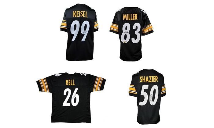 Total Sports Enterprises - Robinson Mall: Ryan Shazier, Heath Miller, Brett Keisel, or Le'Veon Bell Autographed Steelers Jersey at Total Sports Enterprises