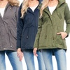 Women's Junior Mid-Weight Parka Jacket with Sherpa-Lined Hood (L & 3X)