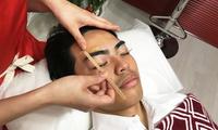 【最大74%OFF】自分では難しい眉毛を専門サロンで≪アイブロウ(眉ケア) or フェイシャル or 「眉ケア&フェイシャル)≫男性限定...