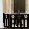 Adjustable Wooden 3-Panel Pet Gate