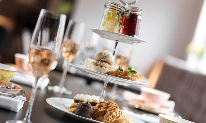 The George Hotel - Durham: Afternoon Tea with a Glass of Prosecco for Two or Four at The George Hotel