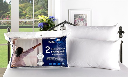 Two, Four or Six Better Dreams Memory Foam Core Pillows