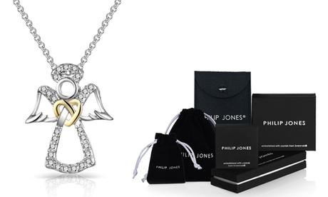 1 o 2 collares de Ángel de la guarda decorados con cristales Swarovski® de Philip Jones