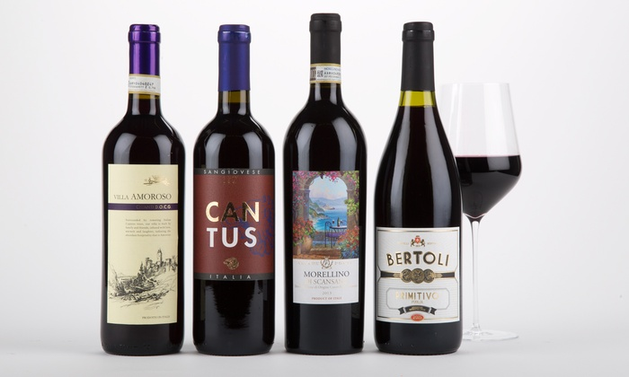 Wine Insiders: $49 for Four Bottles of Italian Red Wine with Shipping Included from Wine Insiders (58% Off)