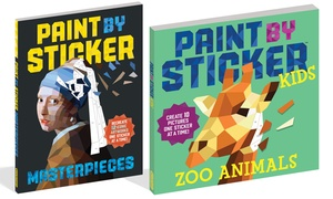 Paint by Sticker Masterpieces or Paint by Sticker Kids: Zoo Animals
