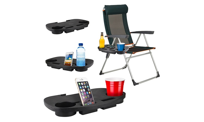 Clip On Camping Chair Side Table Groupon Goods