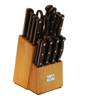 Groupon.com deals on Emeril Stainless Steel Knife Block Set (18-Piece)