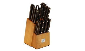Groupon Exclusive: Emeril Stainless Steel Knife Block Set (18-Piece)