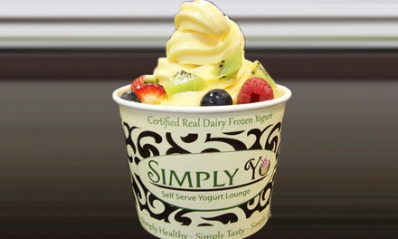 $9 for Three Groupons, Each Good for $5 Worth of Frozen Yogurt at Simply Yo ($15 Total Value)