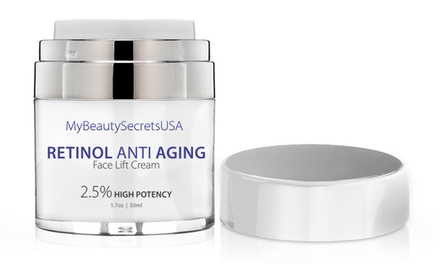 One or Two 1.7oz of Retinol 2.5% High Potency Anti-Aging Cream from My Beauty Secrets USA
