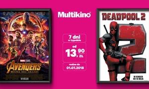 Multikino: Od 13,90 zł: bilet na dowolny seans 2D ważny przez cały tydzień w sieci kin Multikino – miejsca standardowe lub VIP