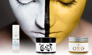 Masques à bulle, noir et or