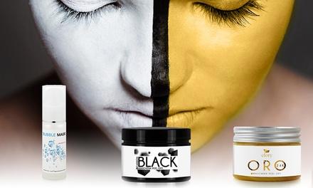 2 ou 3 masques de la marque Efory Cosmetics; masques à bulle, noir et/ou or