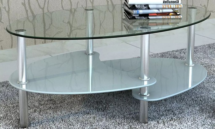 table basse verre groupon. Black Bedroom Furniture Sets. Home Design Ideas