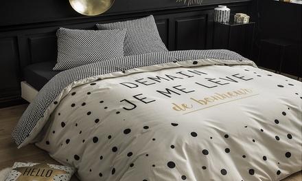 Parure de lit avec  housse de couette et 2 taies doreiller
