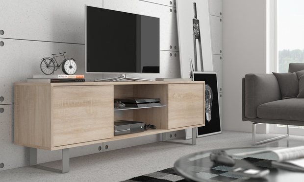 meuble tv mash avec led en option groupon shopping. Black Bedroom Furniture Sets. Home Design Ideas