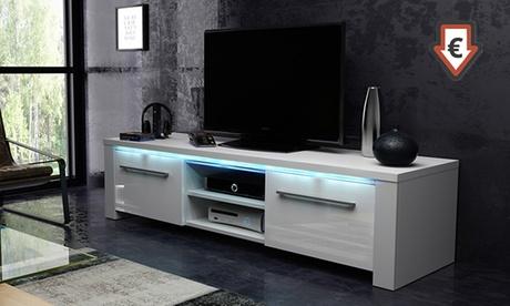 Mueble para TV Messa con luz LED azul
